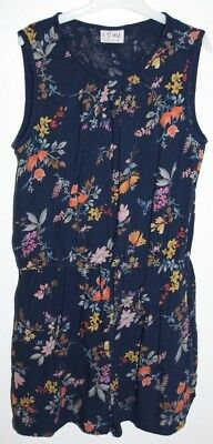 Next Girls Blue Floral Playsuit Age 13 Years