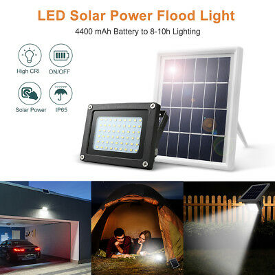 54 LED Solar Panel Power Flood Light Garden Lamp Dust To Dawn Sensor For Outdoor