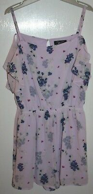 New Look Girls Lilac Floral Playsuit Age 14 Years