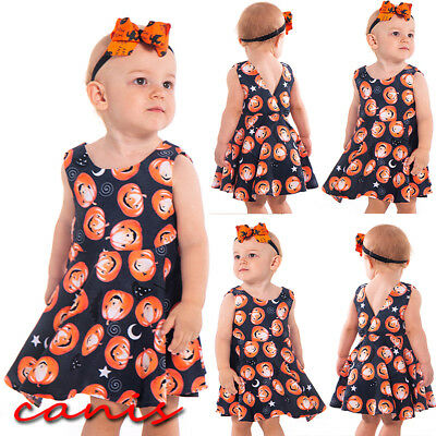 Toddler Baby Girls Halloween Costume Dress Party Tutu Dress Clothes Outfits New
