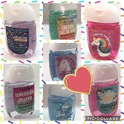 "BATH AND BODY WORKS ""UNICORN & MERMAIDS"" POCKETBAC HAND SANITIZER  GEL 29ml"