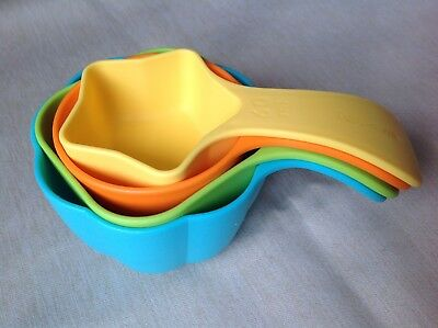 Colourful Tupperware Kids Measuring Cups Set Of 4 As New