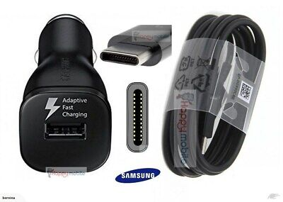 Samsung Galaxy S8 S8+ S9+ S10 Note 8/ 9 15W Fast Car Charger & C Type USB Cable