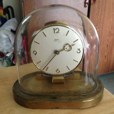 Vintage Kundo  Plastic Dome Clock For Parts Or Restoration