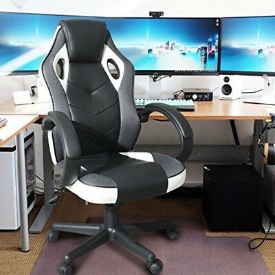 Computer Gaming Chair Racing Style High Back Swivel Task Desk Executive Seat