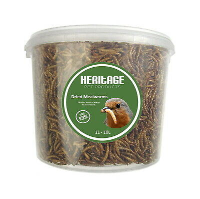 Heritage High Protein Quality Dried 5kg Mealworms Wild Bird Food Feed Feeding