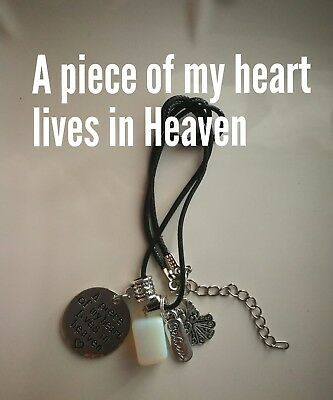 Code 525 Opalite A piece of my Heart lives in Heaven Dog Cat Dad Mum Angel Death