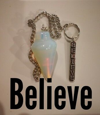 Code 485 Believe in your answers Opalite infused pendulum Guardian Angel Mala
