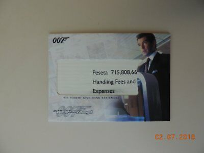The Complete James Bond Rare Sir Robert King Bank Statement RC7 Relic Card