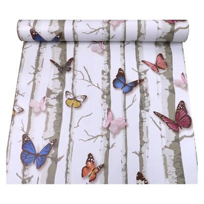 3D stereo forest butterfly pattern self-adhesive stickers 45 * 100cm Q2P1