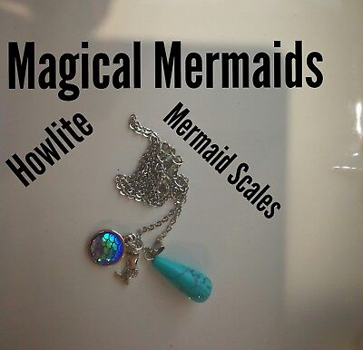 Code 202 Magical Mermaid blue howlite Infused Necklace Magic Mythology Sea