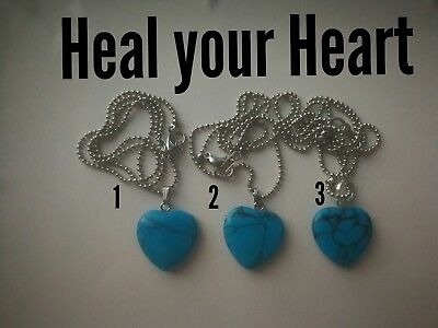 Code 453 Heal your Heart charged n infused cyan  Necklace you are purchasing one