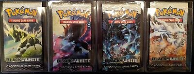 4x Pokemon Black and White Booster Packs