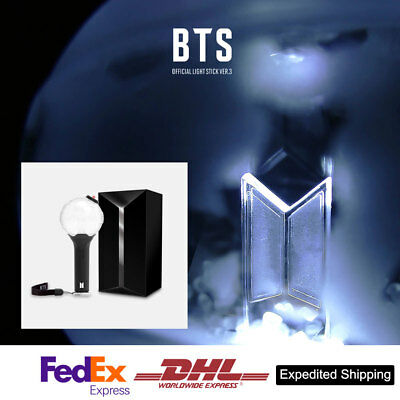 BTS Official goods Light Stick  ARMY BOMB Ver 3 (Bluetooth & photo card) express