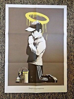 Banksy - Don't Panic Poster 'Forgive Us Our Trespassing' - Dismaland RARE