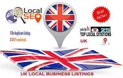 80 UK Live Local Citations For Your Business Listings
