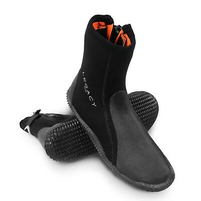Legacy 2019 5mm Wetsuit Boots & Zip Watersports Shoe Surf Sailing Dive Size 5-12