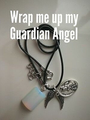 Code 453 Opalite Infused Guardian Angel wrap me up Necklace