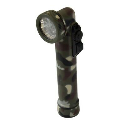 LED ANGLE HEAD TORCH WITH RED/WHITE/BLUE/GREEN - ARMY CADETS RESERVE brand new