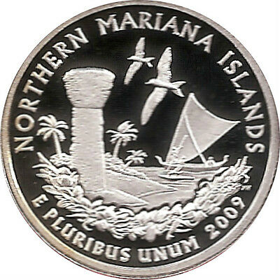 NORTHERN MARIANA ISLANDS 2009 - S Proof Silver State Quarter - DCAM
