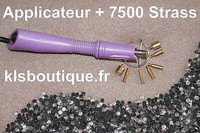 Kit Applicateur a Strass Violet + 7500 Strass thermocollant (Hotfix) #851#