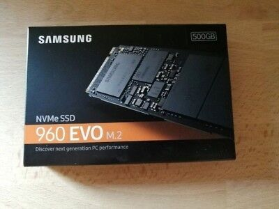 Samsung MZ-V6E500BW Solid State Drive (SSD) 960 EVO NVMe M.2 500GB + RECHNUNG
