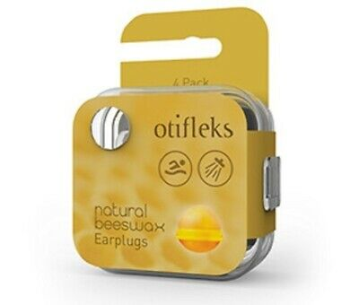 New Otifleks Natural Beeswax Earplugs 4 Pack
