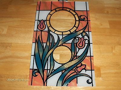 """Clock or Art Glass, NOS, FAUX Leaded Design 080. Thick Rectangle 10""""x16"""","""