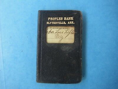 Blytheville, Ark, Peoples Bank leather account book