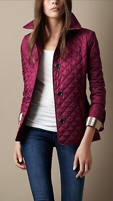 Burberry Brit Womens Purple Ashurst Quilted Jacket New With Tags