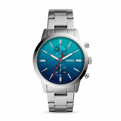 """Fossil FS5434 """"44MM TOWNSMAN"""" Silver-Tone Stainless-Steel Chronograph Watch"""