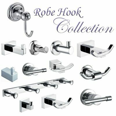 ROBE HOOK Collection - Double Single Square Round - Towel Clothes Coat Hat Door