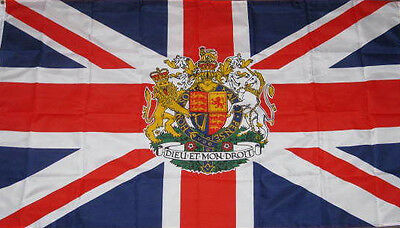 NEW 3x5ft UK CREST GREAT BRITAIN UNITED KINGDOM FLAG better quality usa seller