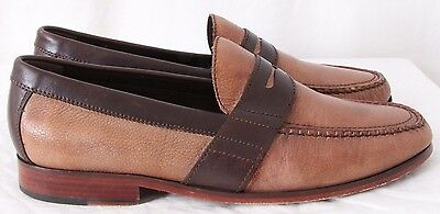 4df00fa2940 Cole Haan C09703 Air Monroe Two-Toned Pebbled Moc Penny Loafers Men s US  11.5M