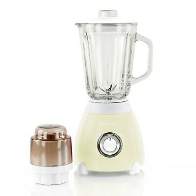 1.5L Electric Multi Food Blender Mixer Grinder Smoothie Maker 500W Cream Color