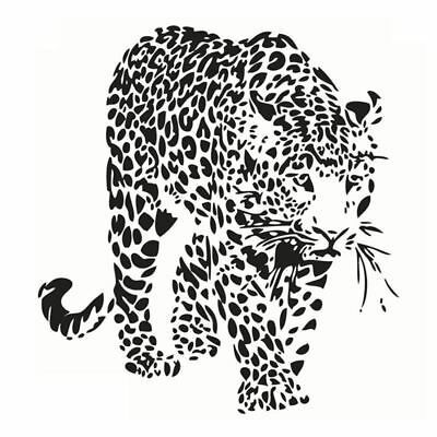 Leopard Wall Art Stickers for Bedroom Living Room Coffee Shop Background Re X9E8
