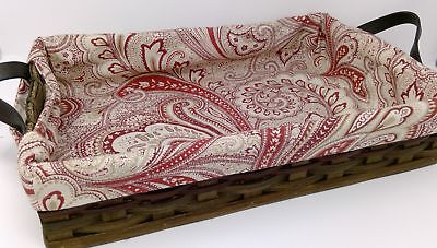 HANDMADE FABRIC CASSEROLE Dish Holder Carrier Vintage Red