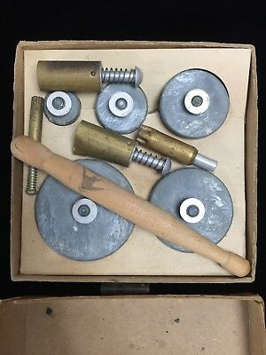 Vintage Kemper Flower Cutter Set + 4 Sugarpaste / Clay Pattern Cutters with Box
