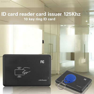 Mini USB 125Khz EM4305 T5567 ID Card Writer Reader w/ Key Ring+ID Card