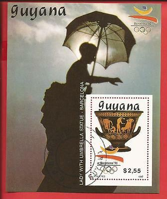 Olymp. Sommerspiele Barcelona The lady with the umbrella Block 65 Guyana gest.