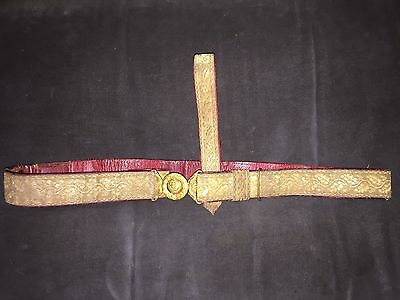 Rare Antique pure Silver Gold plated Belt of Indian Royals 19 th century