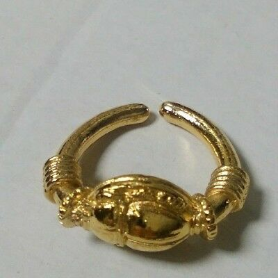 Egyptian Scarab Ring - Gold Plated In 22ct