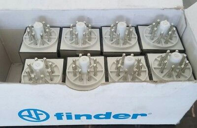 Lot of 8(Eight)Finder 60.12.8.120.0054 120VAC Relay (8-Pin) 2CO-DPDT