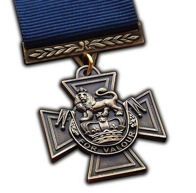 VICTORIA CROSS (NAVY) Medal With Ribbon (FULL SIZE REPLACEMENT -COPY]