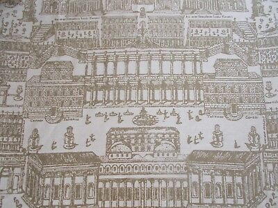 Zoffany Curtain Fabric 'ROME' 3.4 METRES (340cm) OLIVE - Intaglio Collection