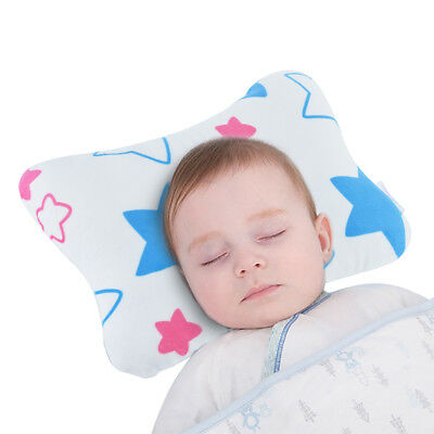 Premium Soft Baby Flat Head Pillow for Newborns by Baby Wishes