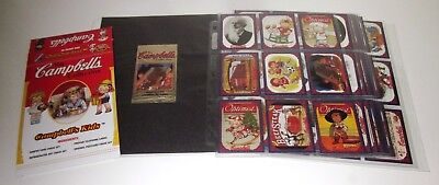 Campbell's Soup, 72 base set, 6 stickers 3 souper, 2 postcards, box, wrappers +