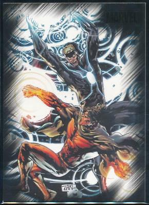 2010 Marvel Heroes and Villains Trading Card #47 Havok vs. Vulcan