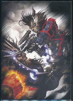 2010 Marvel Heroes and Villains Trading Card #49 Rocket Raccoon vs. Blastaar