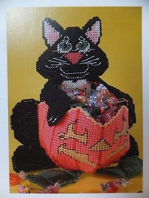 Assorted Plastic Canvas Halloween / Fall Candy Dishes / Holders / Totes / Decor
